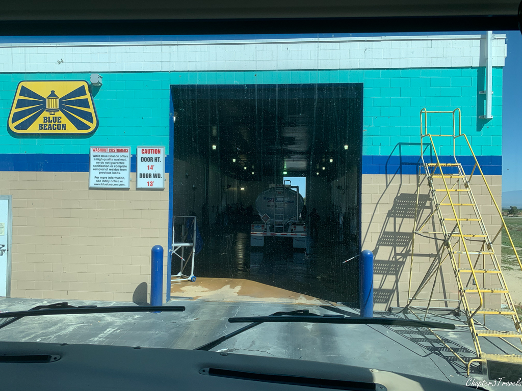 Entrance to Blue Beacon truck wash