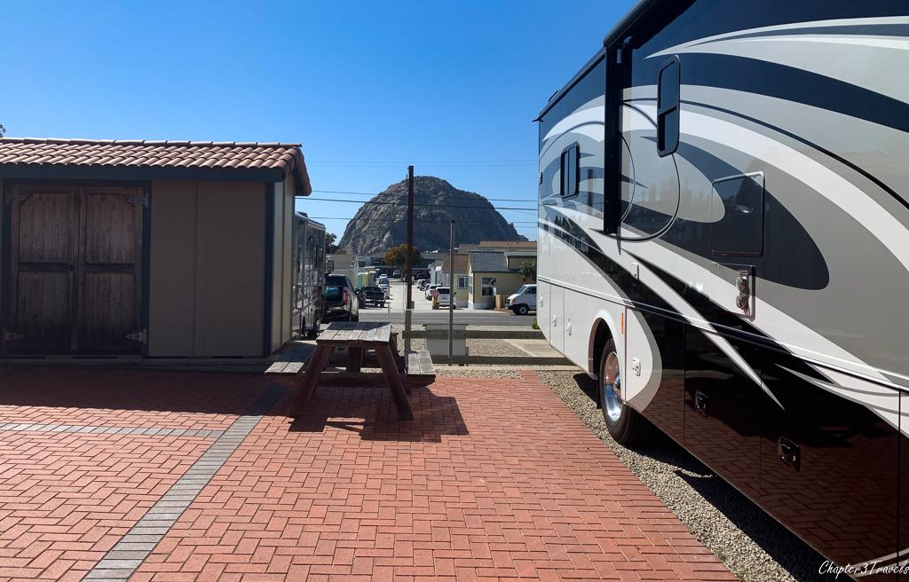 Campsite at Cypress Morro RV Park