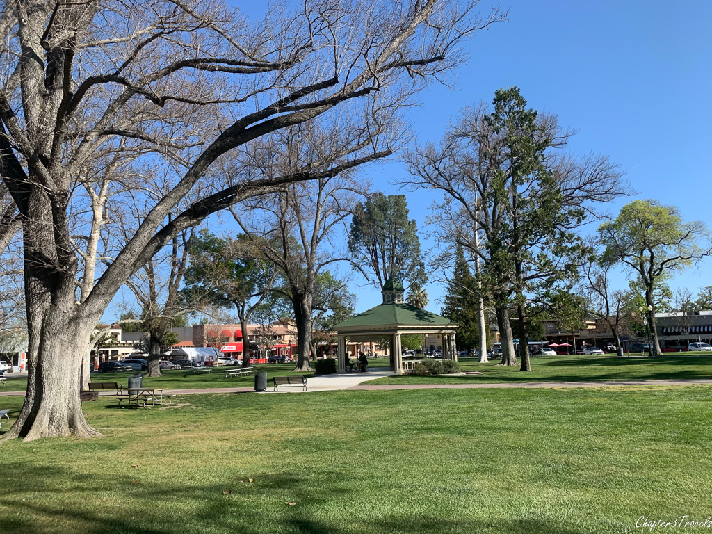 The central park in downtown Paso Robles