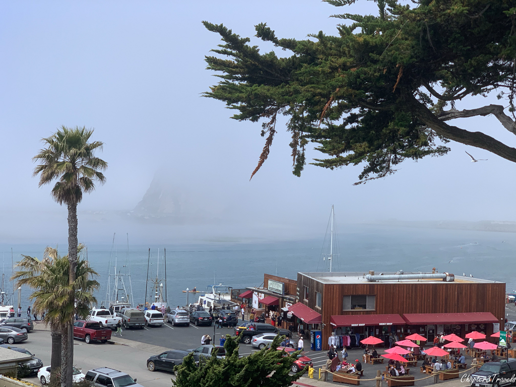 Morro Rock on a cloudy/foggy day