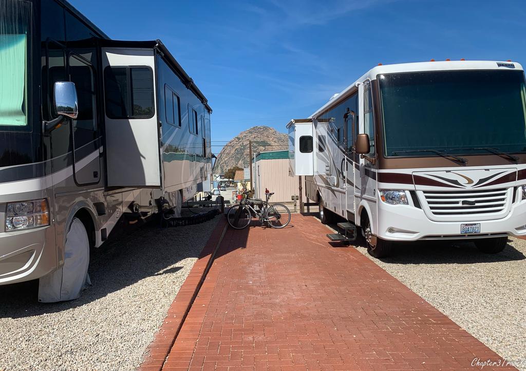 Campsites at Cypress Morro RV Park