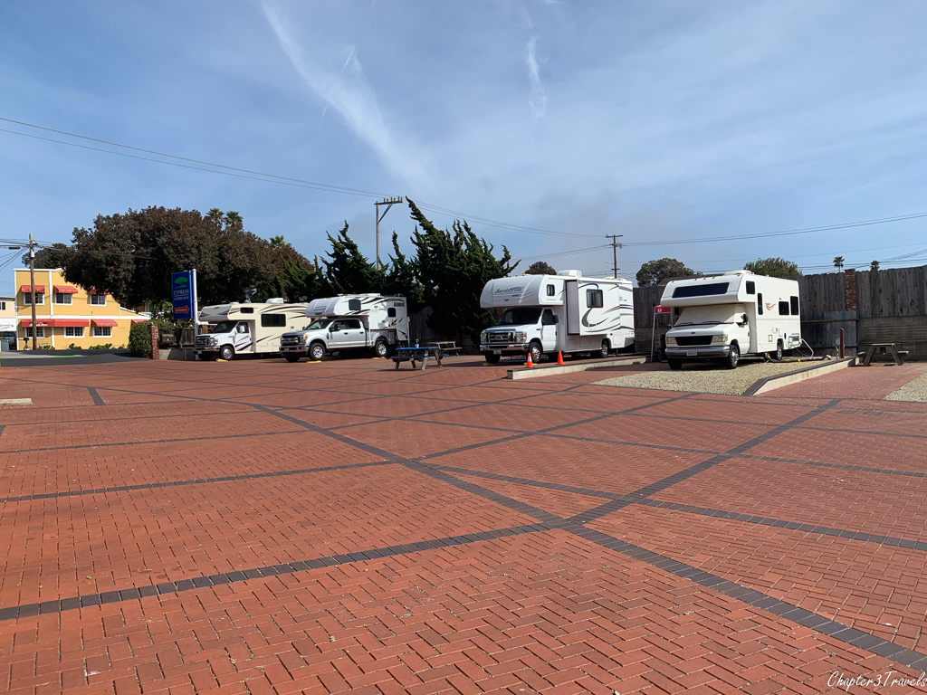 Campsites at Cypress Morro RV Park in Morro Bay, California