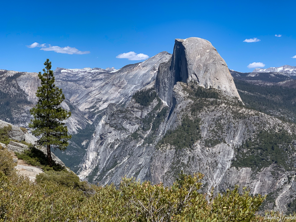 The front of Half Dome