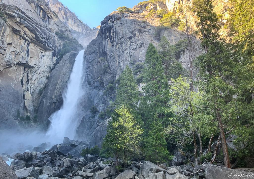 The Lower Yosemite Falls at Yosemite National Park