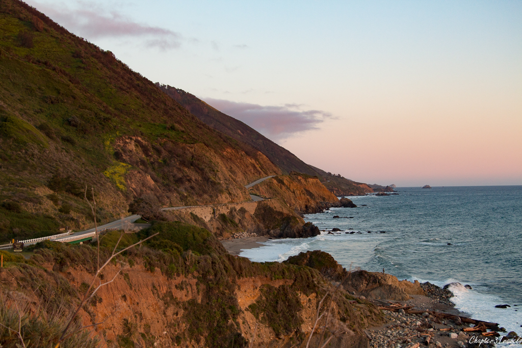PCH at sunset