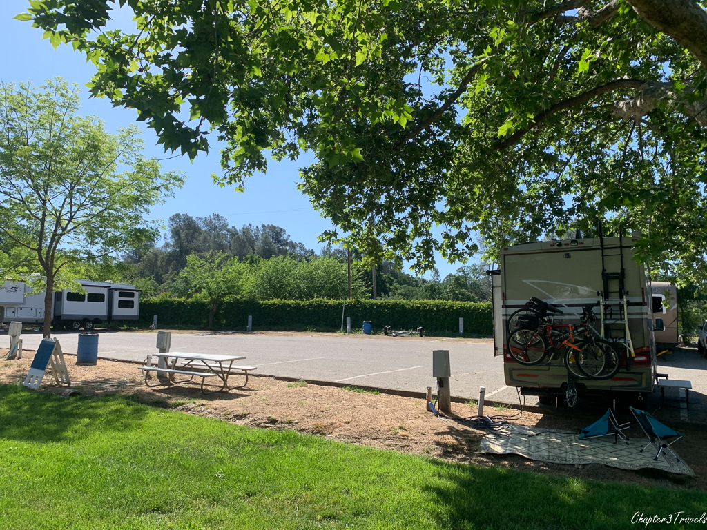 RV parking at Mariposa County Fairgrounds