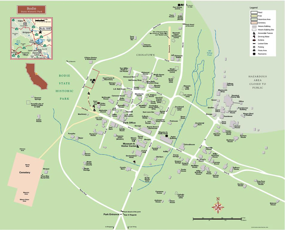 Map of Bodie's structures