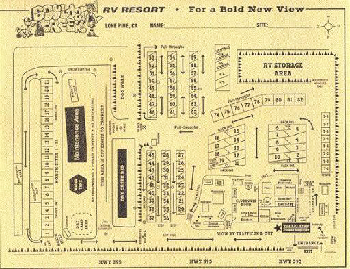 Boulder Creek RV Resort Map