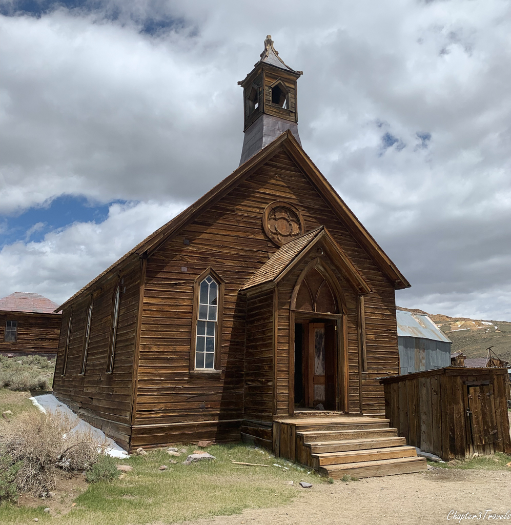 Exterior of wood frame church
