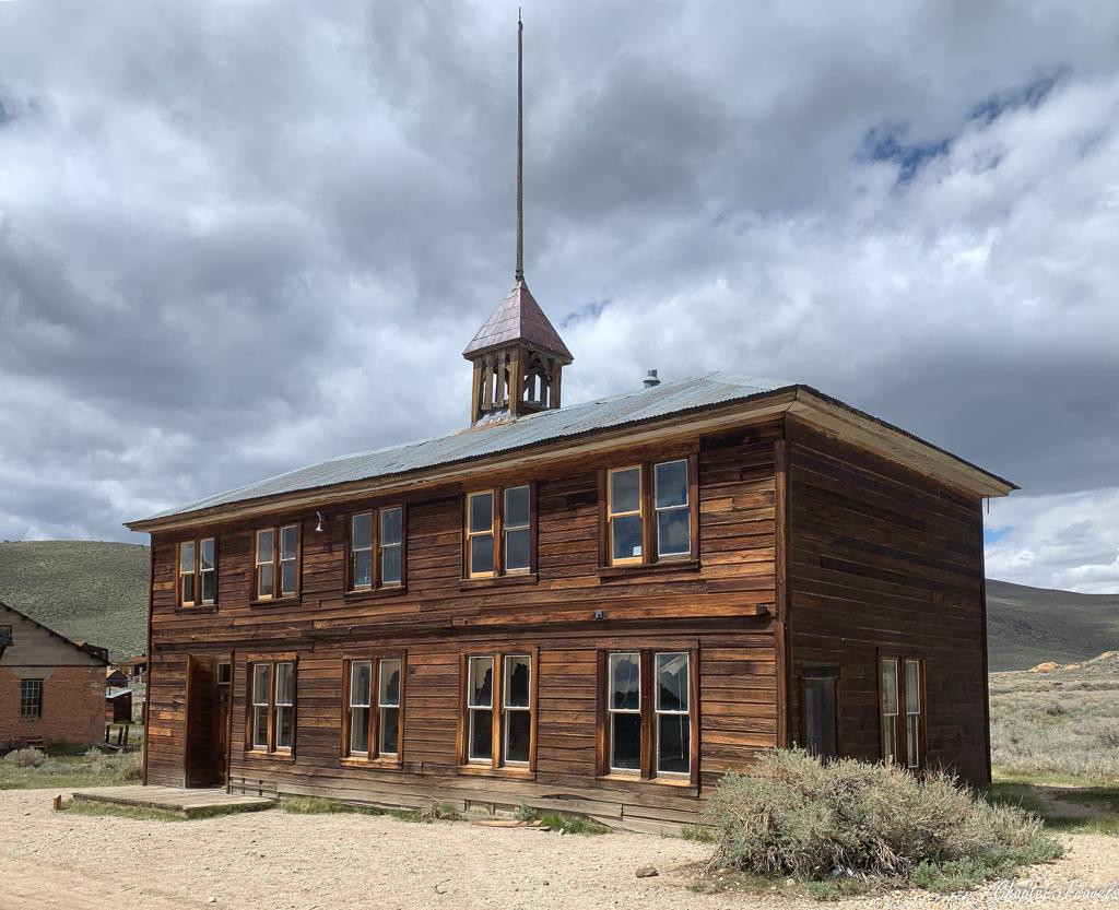 Exterior of Bodie's schoolhouse