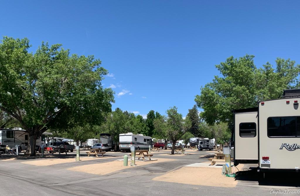 Highlands RV Park in Bishop, California
