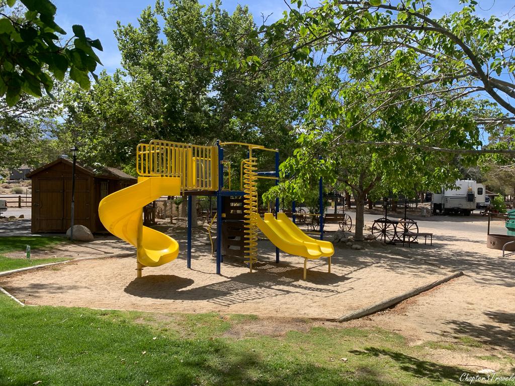 Playground at Boulder Creek RV Resort in Lone Pine, CA