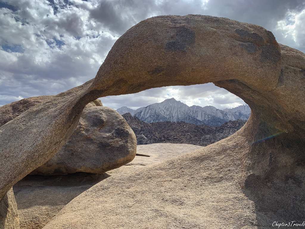 Mount Whitney viewed through the Mobius Arch