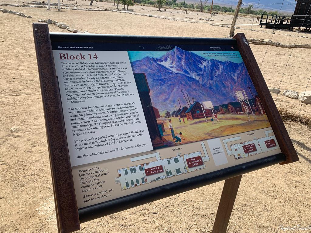 Informational panel at Manzanar National Historic Site