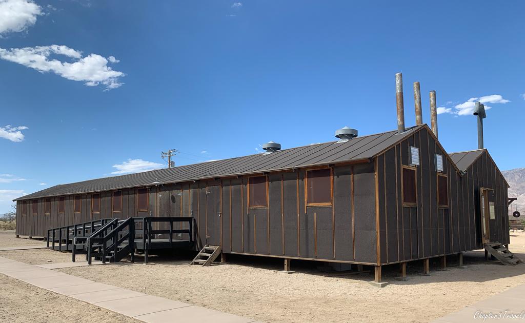 Recreation of barracks at Manzanar National Historic Site