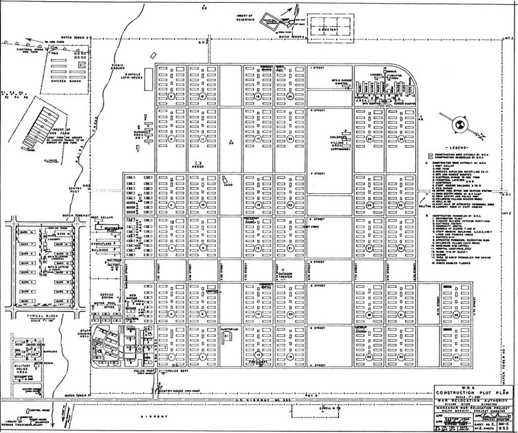 Map of Manzanar Relocation Camp